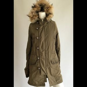 Moussy Olive green utility down Jacket